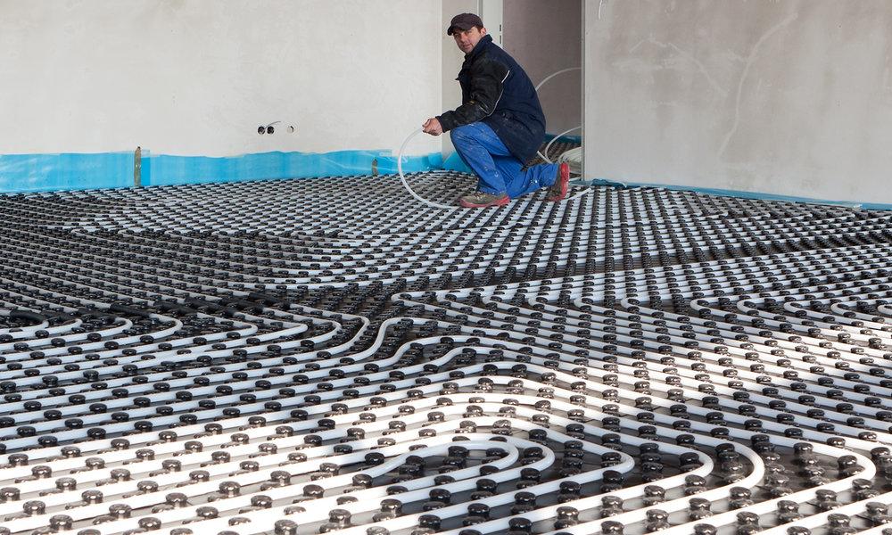 Aanleggen-vloerverwarming