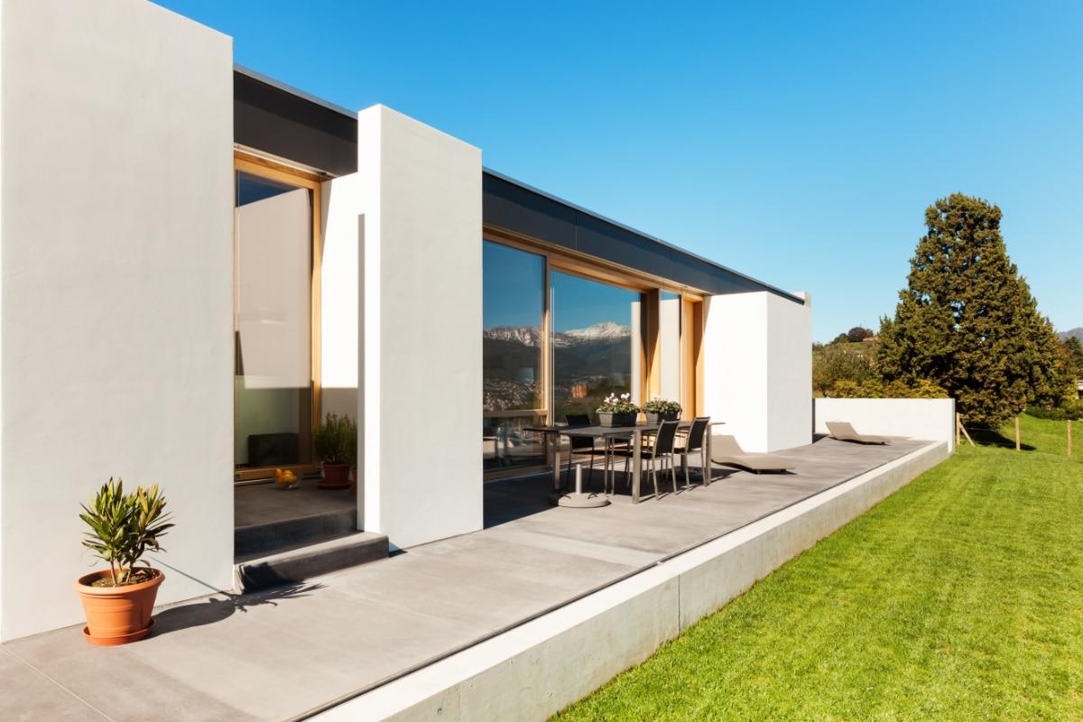 Villa afgewerkt met siliconenpleister