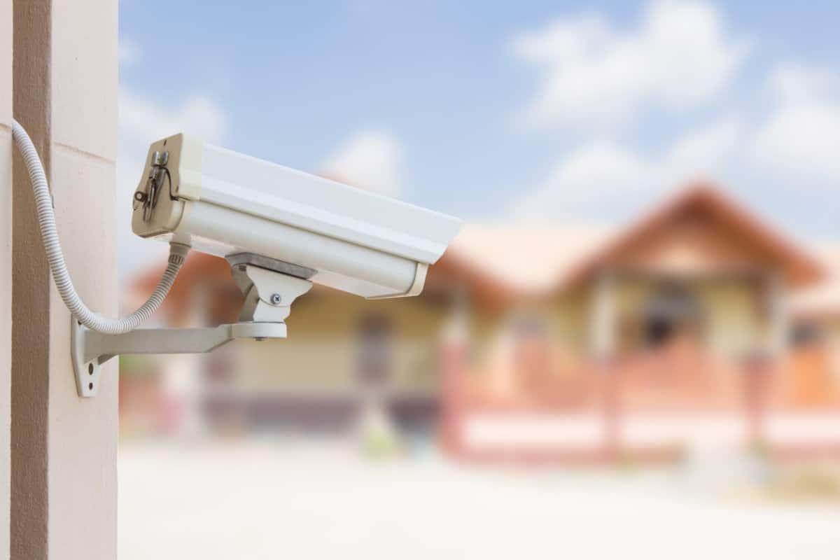 Voorbeeld camerabewaking buiten