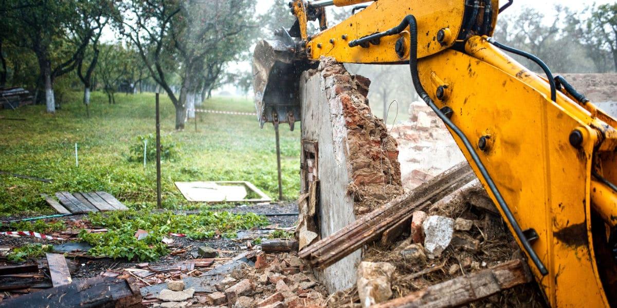afbraak en grondwerken