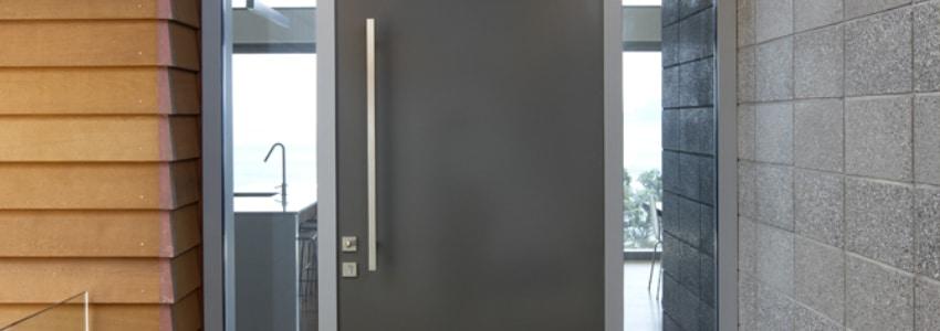 aluminium voordeur met glas