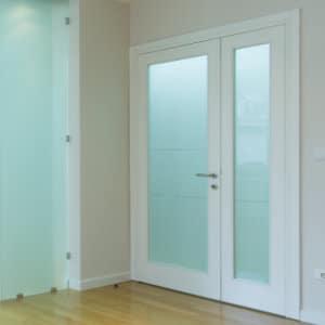 pvc deur met glas