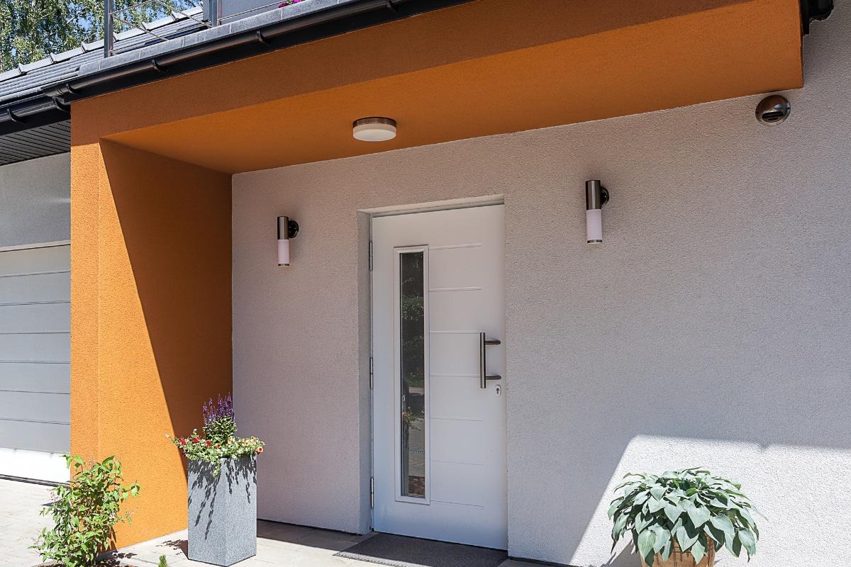 pvc voordeur in wit